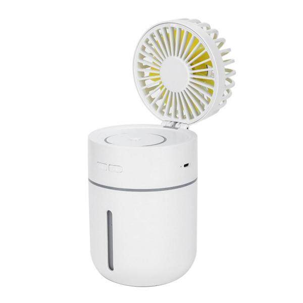 2000mA Fan with Air Humidifier 400ML USB Aroma Essential Oil Diffuser 7 Color Night Light  Portable Table Fans