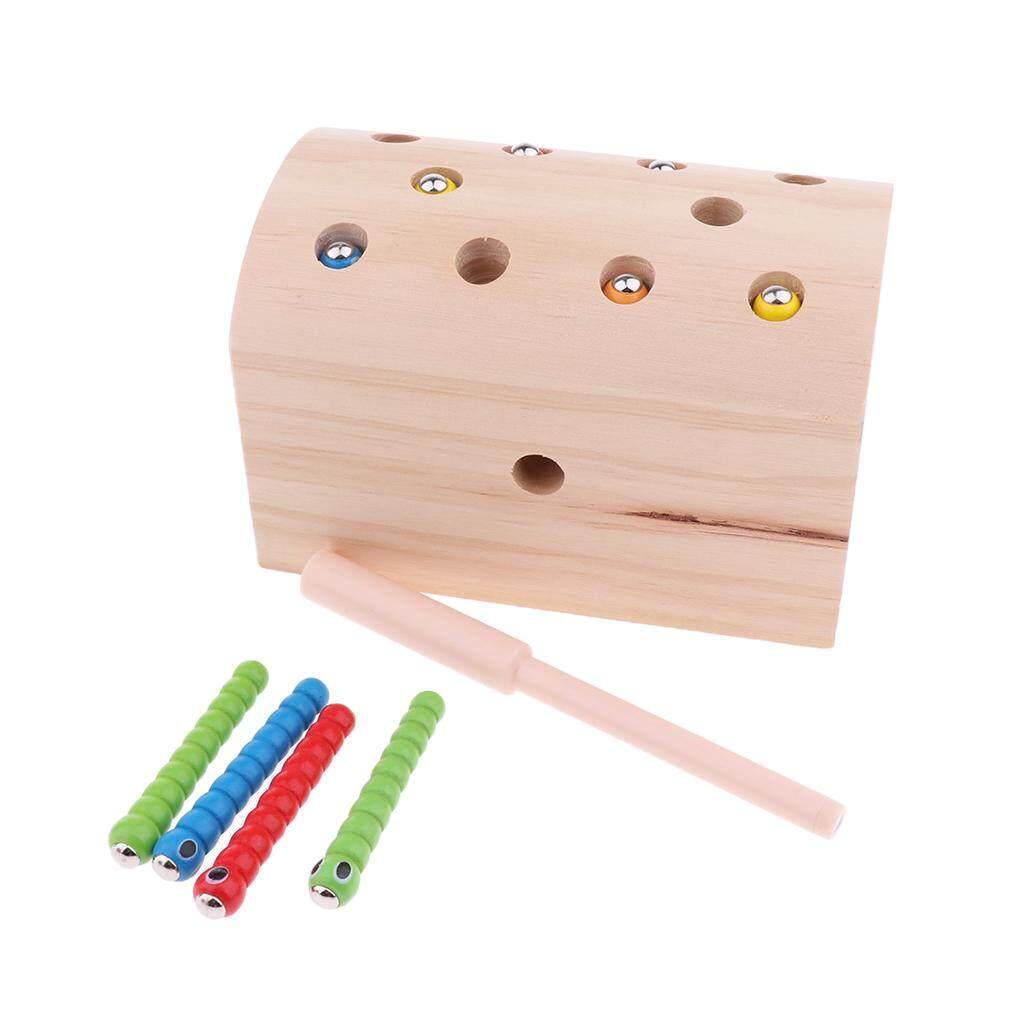 BolehDeals Natural Wooden Magnet Bug Catching Kit Kids Montessori Educational Toy