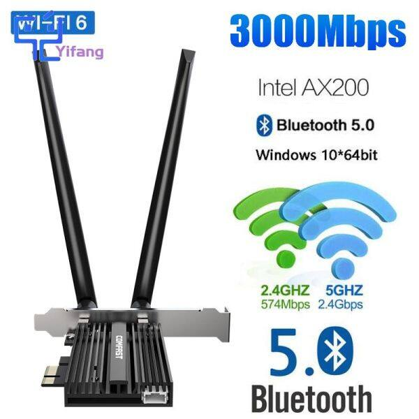Bảng giá Card Mạng Không Dây Yifang AX200 PRO 3000Mbps, Card Mạng WiFi 6 Băng Tần Kép Không Dây Intel AX200 PRO PCIE Bluetooth 5.0 AX200pro 2.4G/5G 802.11 AX Phong Vũ
