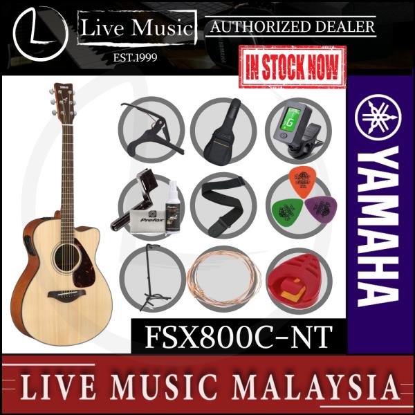 Yamaha FSX800C Concert Cutaway Acoustic-Electric Guitar - Natural (FSX-800C/FSX800C-NT) Malaysia