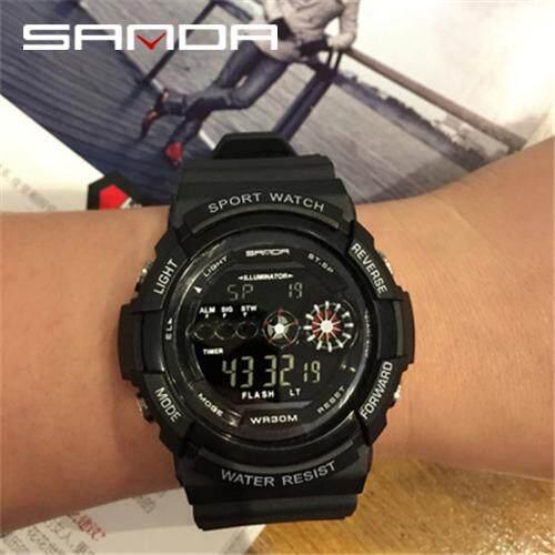 SANDA Men Watch Sports Digital Watch Mens Luxury LED Digital Waterproof Watch Chronograph Mens Fashion Watch Mens Watch For Men Malaysia