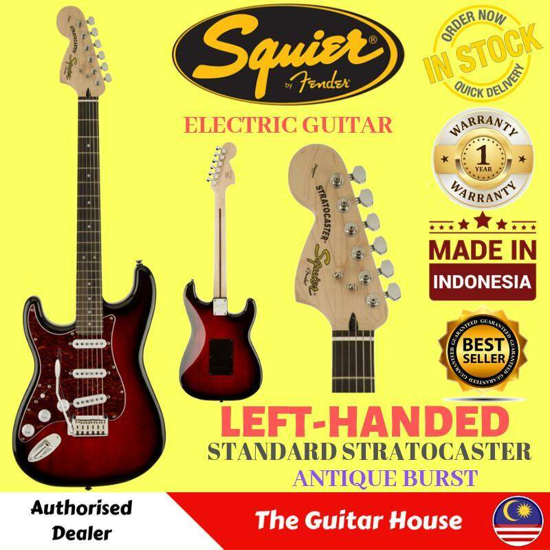 Fender Squier Standard Stratocaster Left-Handed Electric Guitar (Made In Indonesia) (Antique Burst) (LeftHanded) Malaysia