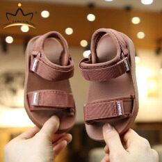 I Love Daddy&Mummy Giày xăng đan vải đế mềm chống trượt có màu trơn dành cho bé trai và bé gái đi biển vào mùa hè – INTL