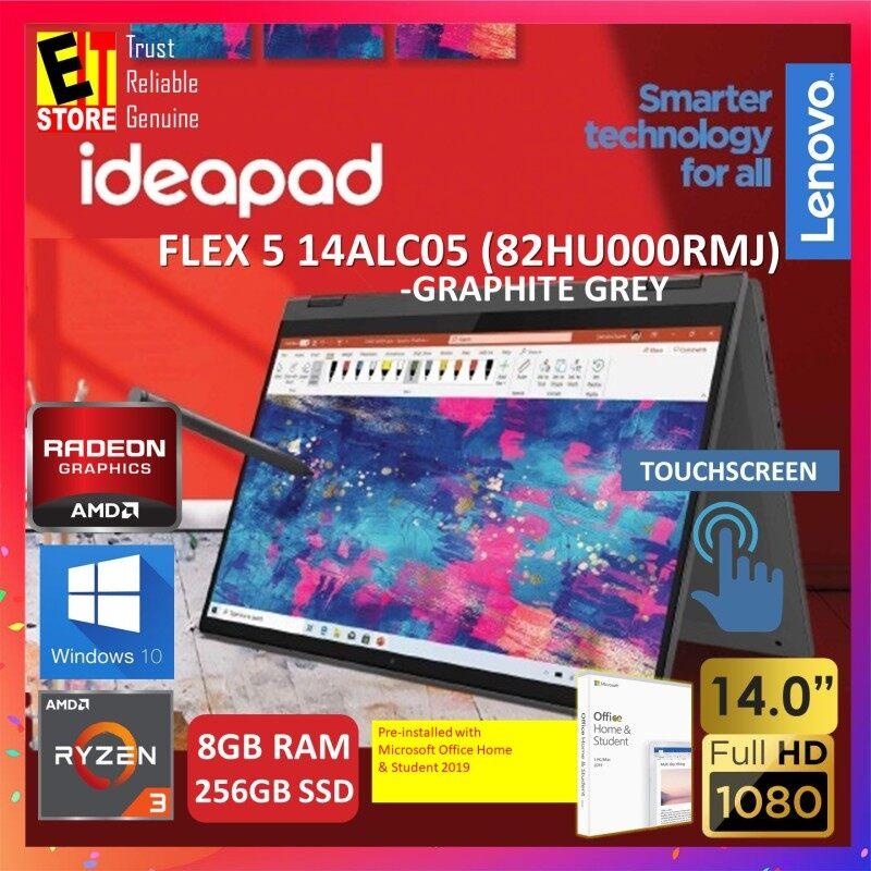 LENOVO IDEAPAD FLEX 5 14ALC05 (82HU000RMJ) 2IN1 LAPTOP -GRAPHITE GREY (R3-5300U/8GB/256GB SSD/14 FHD TOUCH/AMD Radeon Graphics/W10/2YRS/MS.OFFICE) Malaysia