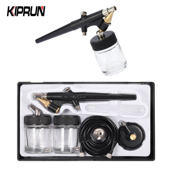 [Ready stock] KIPRUN High Atomizing Siphon Feed Airbrush Single Action Air Brush Kit for Makeup Art Painting Manicure 0.8mm Spray Paint