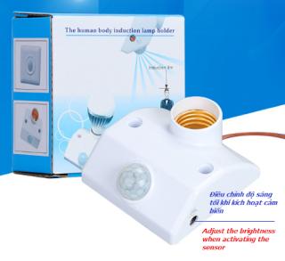 Đuôi đèn cảm ứng chuyển động hồng ngoại E27, tự động sáng khi có người chuyển động qua lại, dùng với với đèn đui E27 [Thao2] Dũng thumbnail