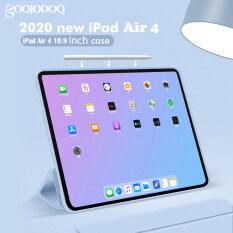 Ốp iPad GOOJODOQ Mới 2020 Cho iPad Air 4 10.9 Vỏ Bảo Vệ Toàn Bộ Mềm Silicon Dành Cho iPad 7th 8th Gen 10.2 Dành Cho iPad 11Inch 2018 2020 Hỗ Trợ Sạc Không Dây