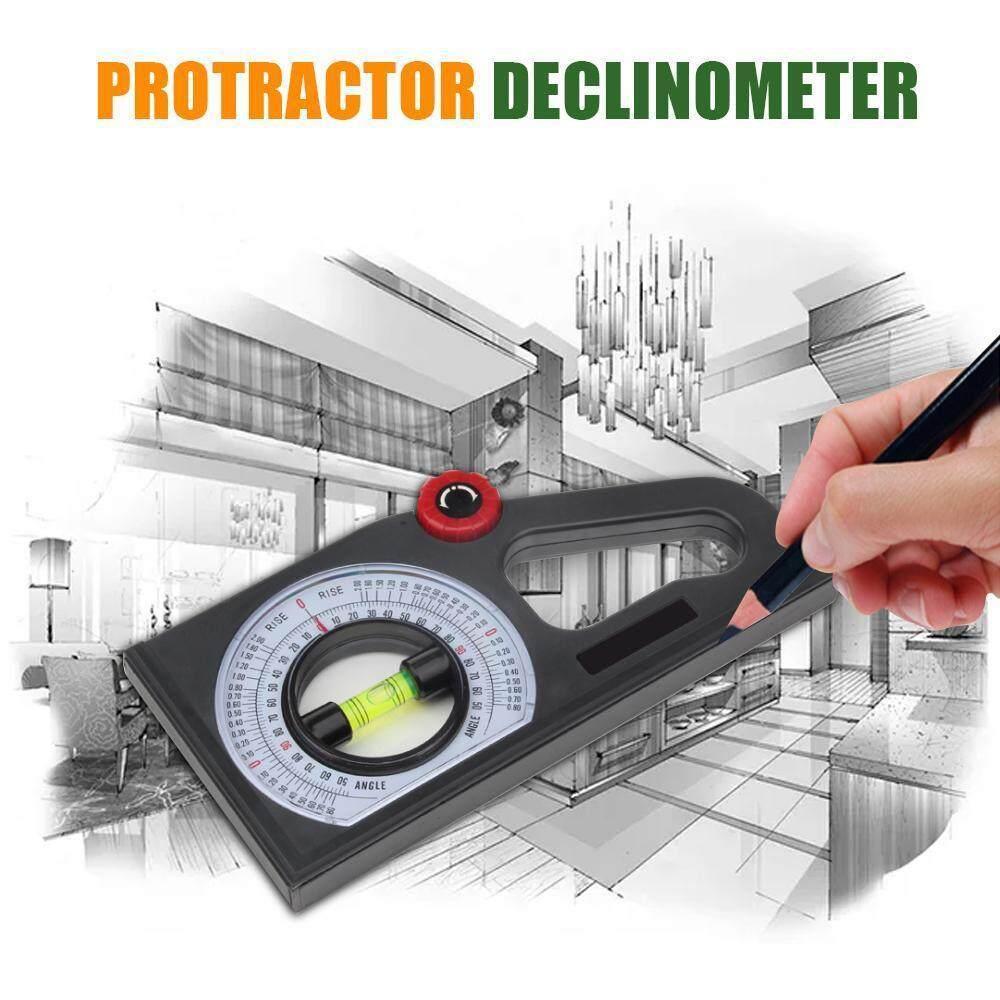 M & T Vát Protractor Declinometer Độ Dốc Đo Ngang Góc Đứng Thước Dụng Cụ Xây Dựng Protractor