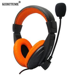 KEBETEME tai nghe chơi game co dây chuyên dụng thiê t kê đâ u nô i 3.5mm tai nghe chô ng ô n âm thanh nô i với micro cho ma y ti nh điện thoại - INTL thumbnail