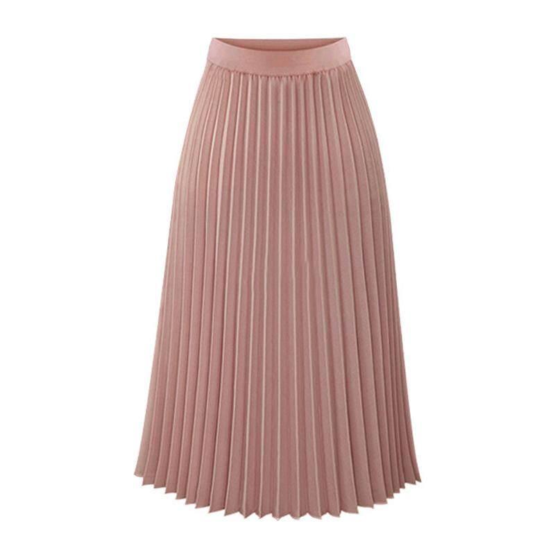 Mã Khuyến Mại Khi Mua Thời Trang Thời Trang Nữ Váy Mùa Xuân, Mùa Thu Xếp Ly Voan Thun Trung Dài Cho Nam Nữ Váy