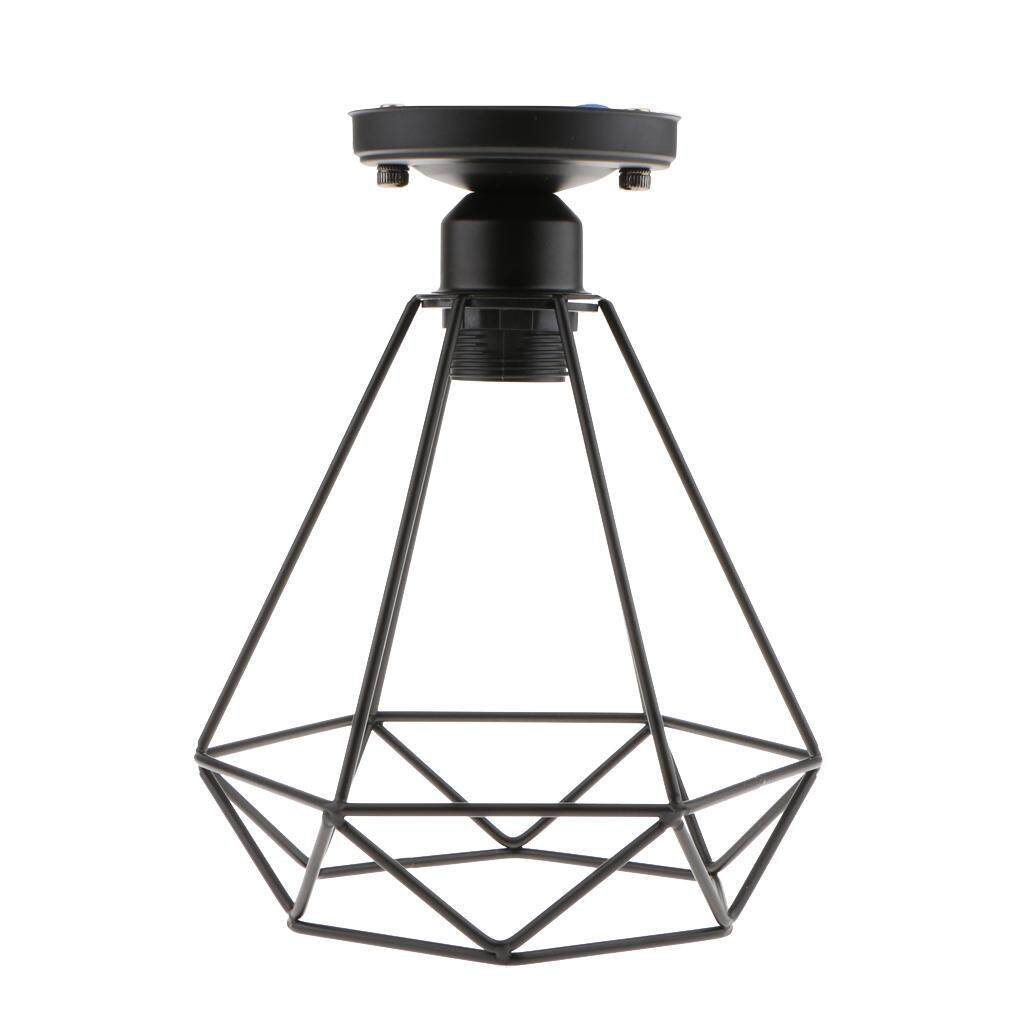 Perfk 2x Retro Wire Diamond Pendant Ceiling Light Cage Lamp Shade Lounge Lighting