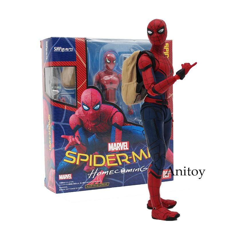 Funny 14cm Spider Man Homecoming Spiderman PVC Action Figure Model Toy