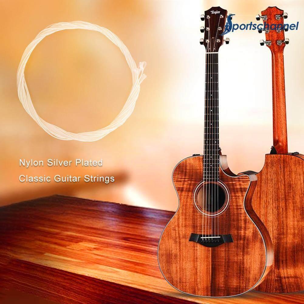 sportschannel C660 6 Pcs/set Nilon Klasik Bersepuh Perak Senar Gitar Alat Musik