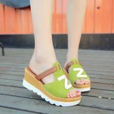Giày Thời Trang Nữ Đế Xuồng Màu Trơn Peep Toe Flatform Giày Dép Dép