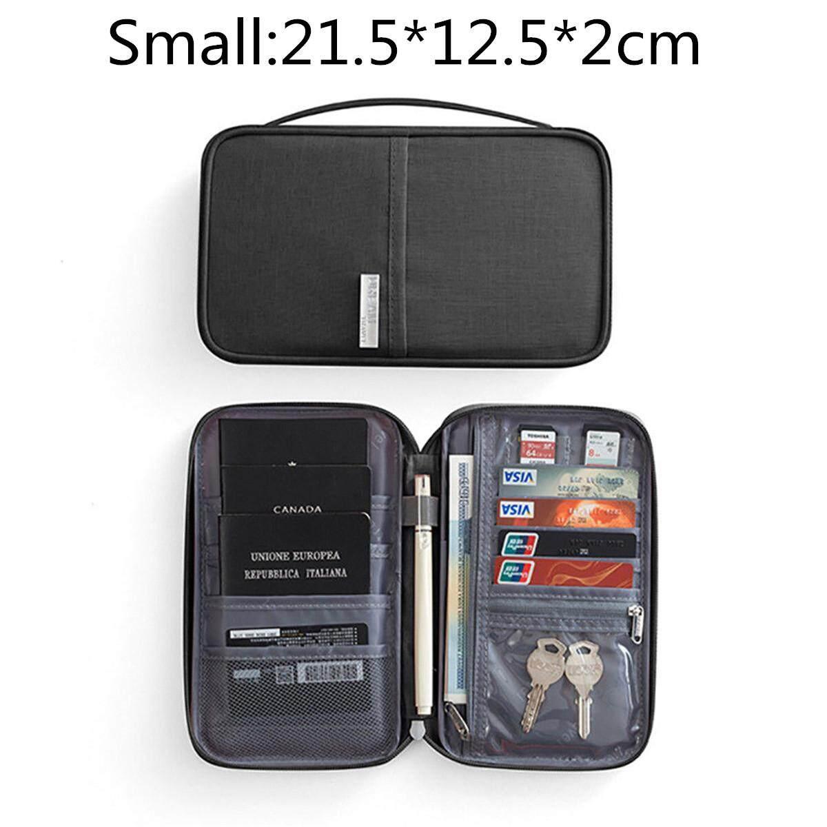 5a6888a5b129 RFID Blocking Travel Card Storage Bag Passport Document Wallet Organizer  Holder #Small