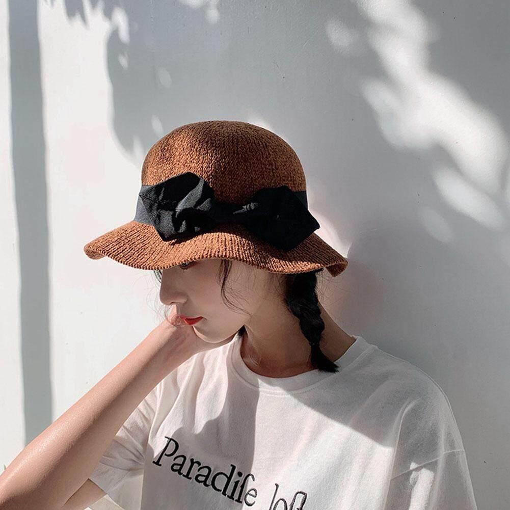 43e8edc2fe5  Elegant Women Vacation Beach Hat Lady Wide Brim Floppy Summer Sun Straw Hat