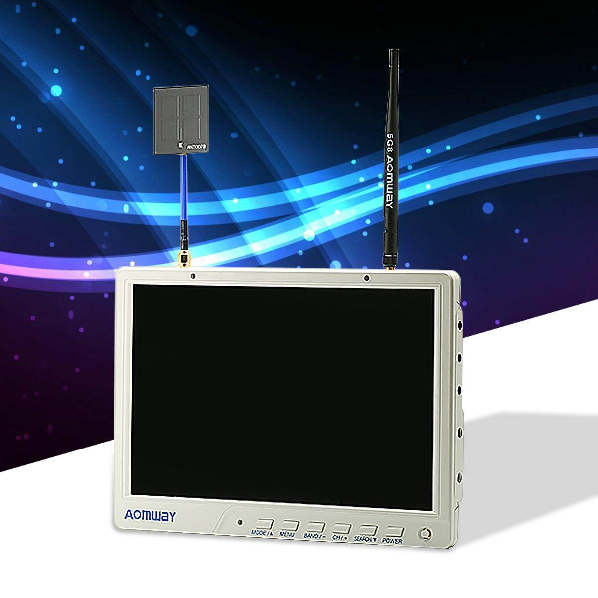 【Free Shipping + Flash Deal】HD588 5.8G 40CH 10 Inch Diversity FPV HD Monitor 1920 x1200 With DVR For Aomway Malaysia