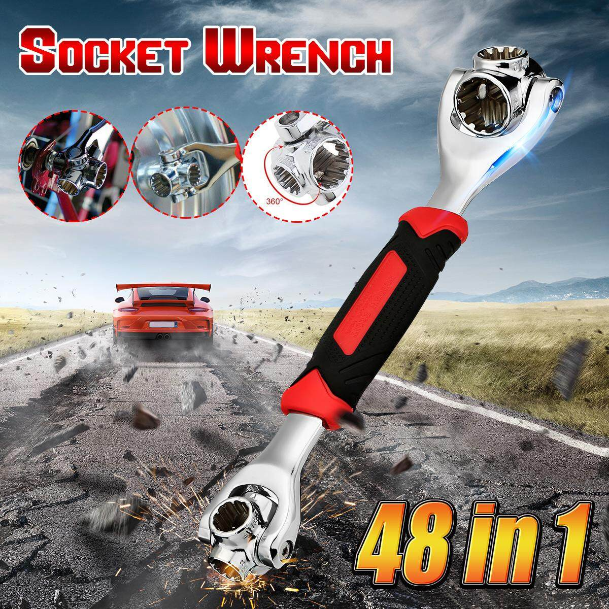 48 in 1 Wrench In One Socket Works With Spline Bolts All Size Stand Socket Tiger