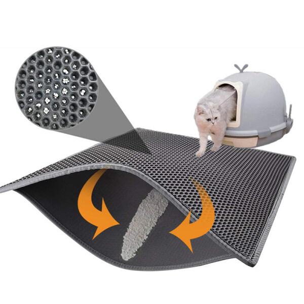 Cat Litter Mat Litter Bẫy Mat, 40*50Cm, Thiết Kế Hai Lớp Tổ Ong Vật Liệu Chống Thấm Nước Tiểu, Dễ Dàng Kiểm Soát Phân Tán