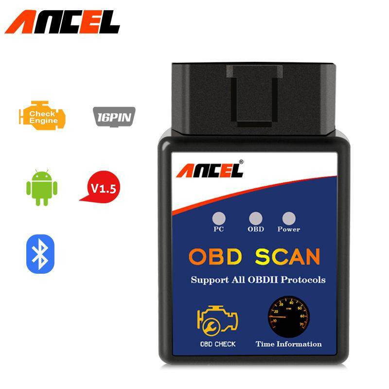 Ancel Elm327 Bluetooth Elm 327 V1.5 V 1.5 Obd2 Obdii Adaptor Auto Scanner For Android Code Reader Diagnostic Tool Pic18f25k80 Ancel Official Authentic Is Better Than Transparent Cheap Version By Obdspace Store.