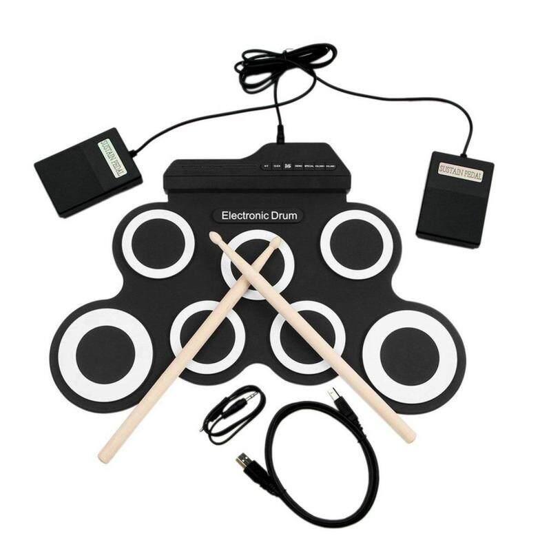 Đầu Đề Cập Đến USB Trống Điện Tử G3002 Bộ Trống Bộ Trống Nhạc Cụ Gõ Cho Trẻ Em