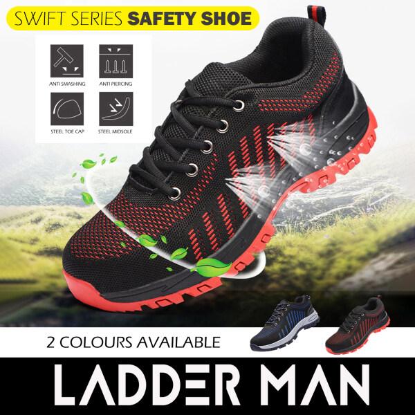Ladderman Swift Series Steel Toe Cap Midsole Low Cut Safety Boots Safety Shoe LDM-218B/LDM-238R Kasut Safety Jenis Sport (Tak Panas Dan Berkualiti)