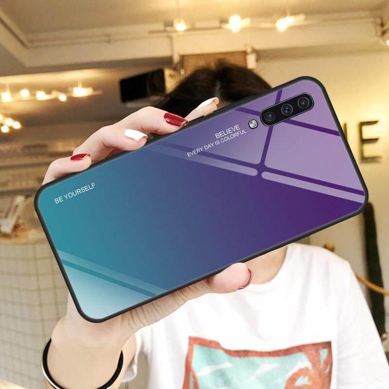 Giá [Màu] Kính + TPU + PC phụ kiện ốp điện thoại dành cho Samsung Galaxy A50