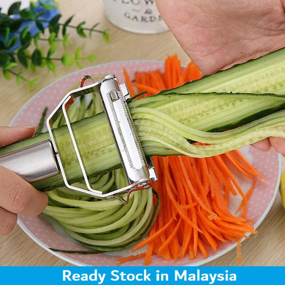 1pc Stainless Steel Julienne Peeler Vegetable Peeler Double Planing Grater By Yisino.