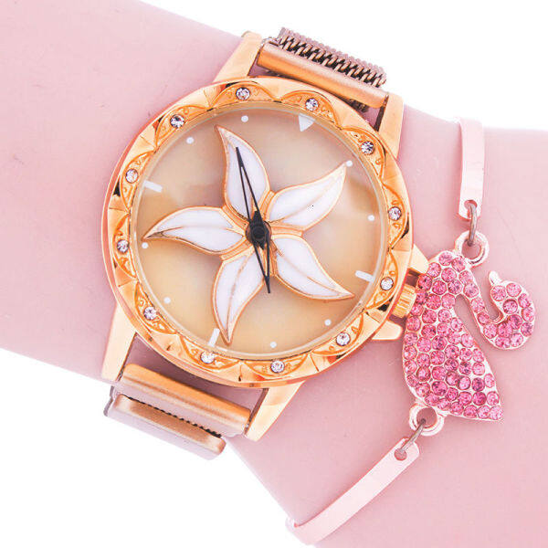 Fortune watch windmill ladies fashion suction iron buckle mesh belt waterproof watch move 43D1 Malaysia
