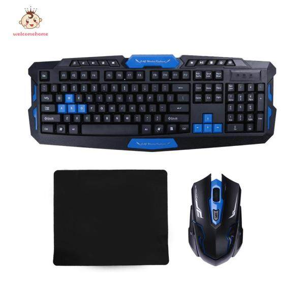 【welcomehome】2.4G Wireless Gaming Keyboard + Game Mouse Set Combo for Desktops Laptop PC Singapore