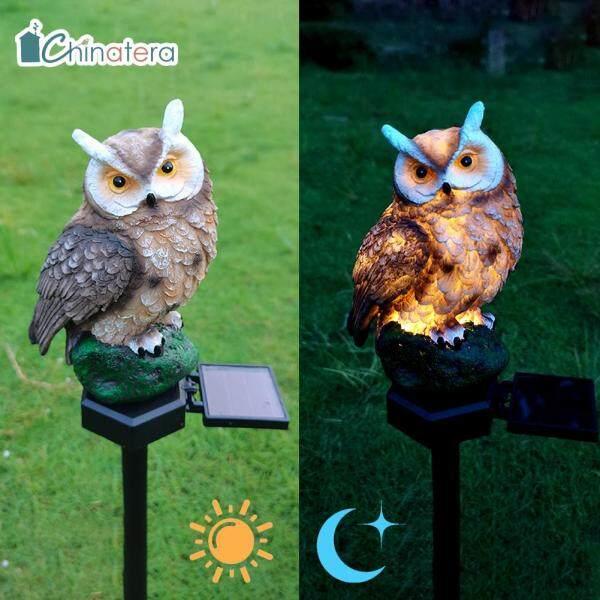 [Chinatera] Đèn LED Bãi Cỏ Hình Chim Cú Dễ Thương Chạy Bằng Năng Lượng Mặt Trời Đèn Cảnh Quan Sân Vườn Ngoài Trời Không Thấm Nước