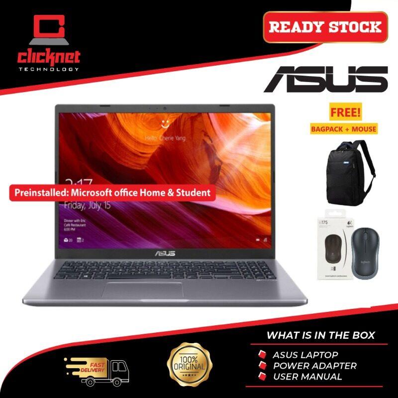 ASUS A516J-ABR373TS I3-1005G1, 4GB, 256GB SSD, 15.6HD, GREY-W10 H&S Malaysia