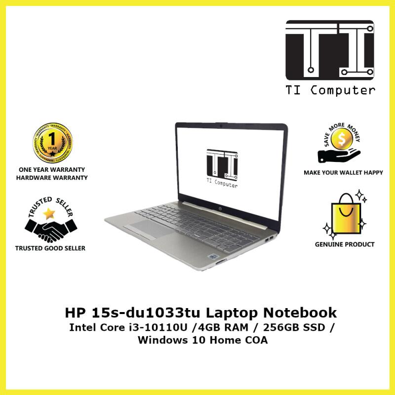 HP 15s-du1033tu Intel Core i3-10110U 4GB RAM 256GB SSD Laptop Notebook (Refurbished) Malaysia