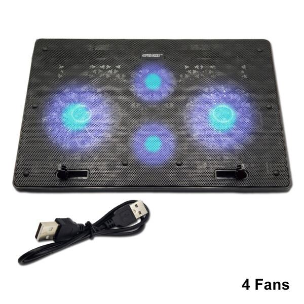 Cyclone Notebook Laptop Cooling Pad Fans Blue LEDs Big Fan 2Fan 4Fan 5Fan Malaysia