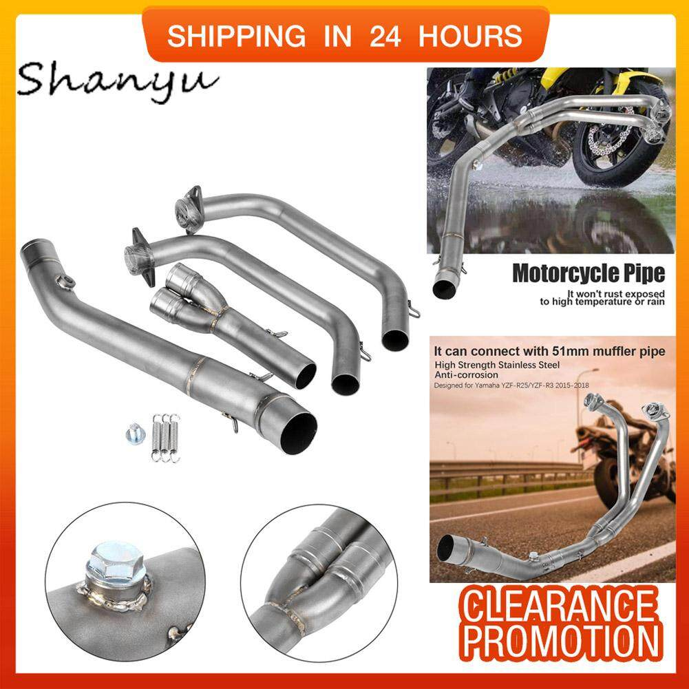 Motorcycle Full Exhaust System Vent Front Pipe Link Connect for Yamaha  YZF-R25/YZF-R3 2015-2018