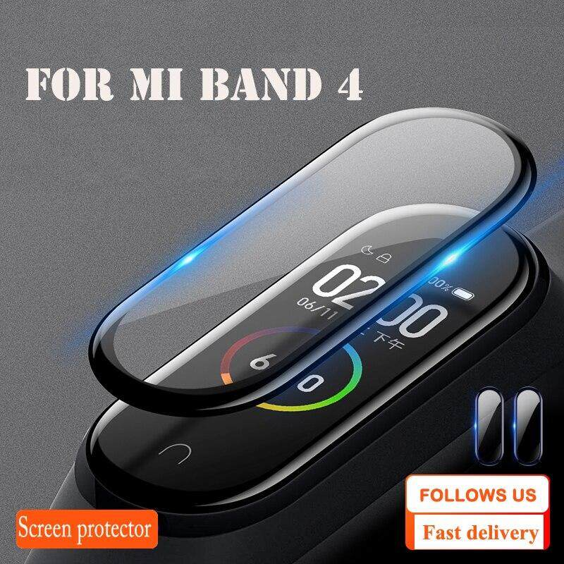 Protective Film For XiaoMi Band 4 NFC Wristband Screen Film Mi Band 4 glass Explosion-proof/scratch prevention screen protector Malaysia
