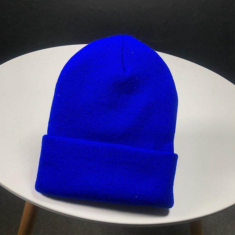 Men/'s Women Beanie Knit Ski Cap Hip-Hop Blank Color Winter Warm Unisex Wool Hat
