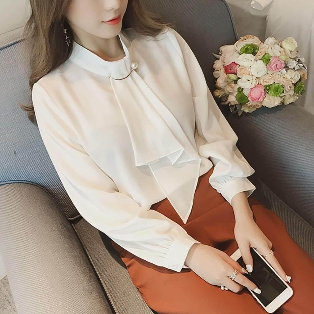 Blus Perempuan Wanita Hantaman Top Fashion Bottoming Baju Kain Sutera Tipis Baju