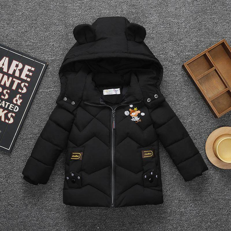 5d9f18462 Winter Jackets for Boys Warm Coat Kids Clothes Snowsuit Outerwear Coats  Children Clothing Baby Fur Hooded Jacket Infant