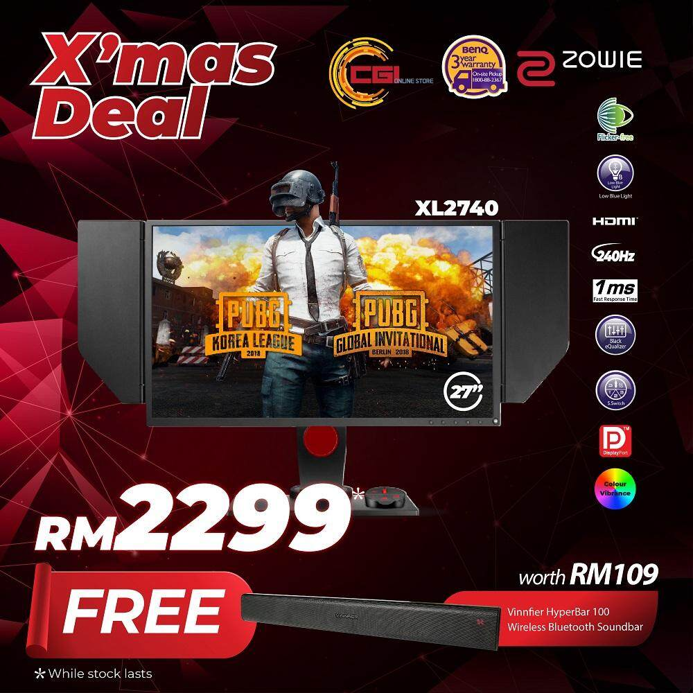 BenQ 27 XL2740 ZOWIE 240Hz e-Sports Gaming LED Monitor Malaysia