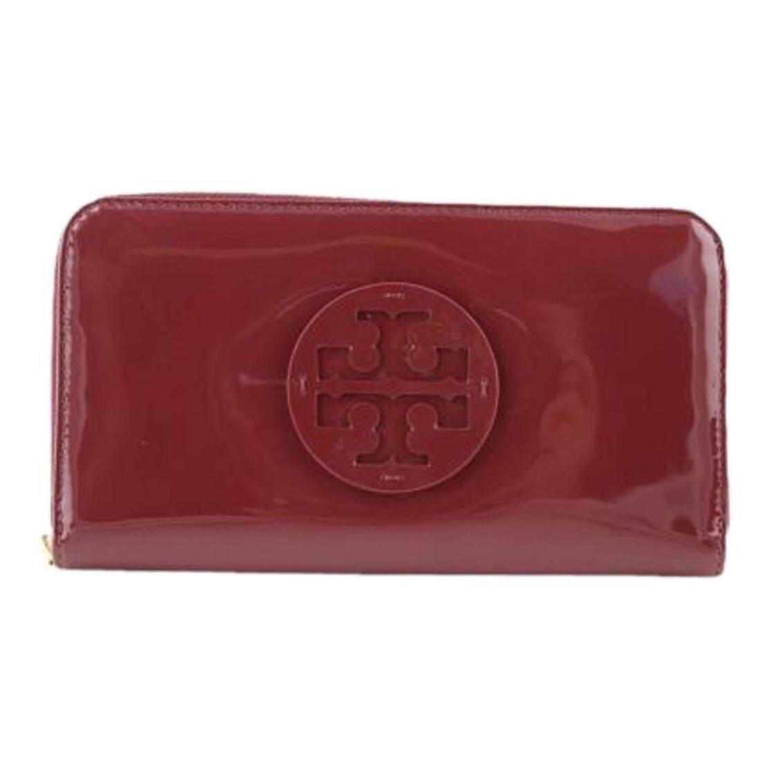b90add3c7c0 Tory Burch Patent Leather Continental Wallet (equestrian orange)