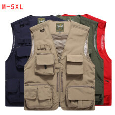 Summer Male Vest Oversize Fishing Outdoor Photographer Camping Vest