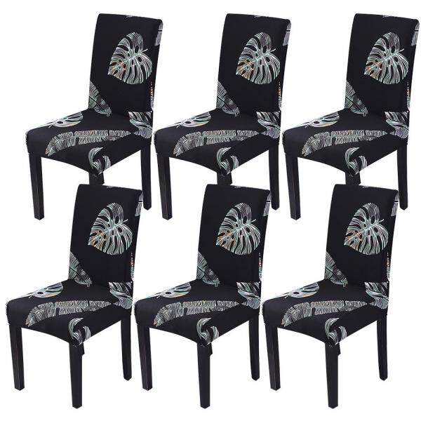 6Pcs Spandex Removable  Chair Cover Stretch Elastic Dining Seat Cover For Banquet Wedding Restaurant Hotel Washable Spandex Slipcovers for High Chairs