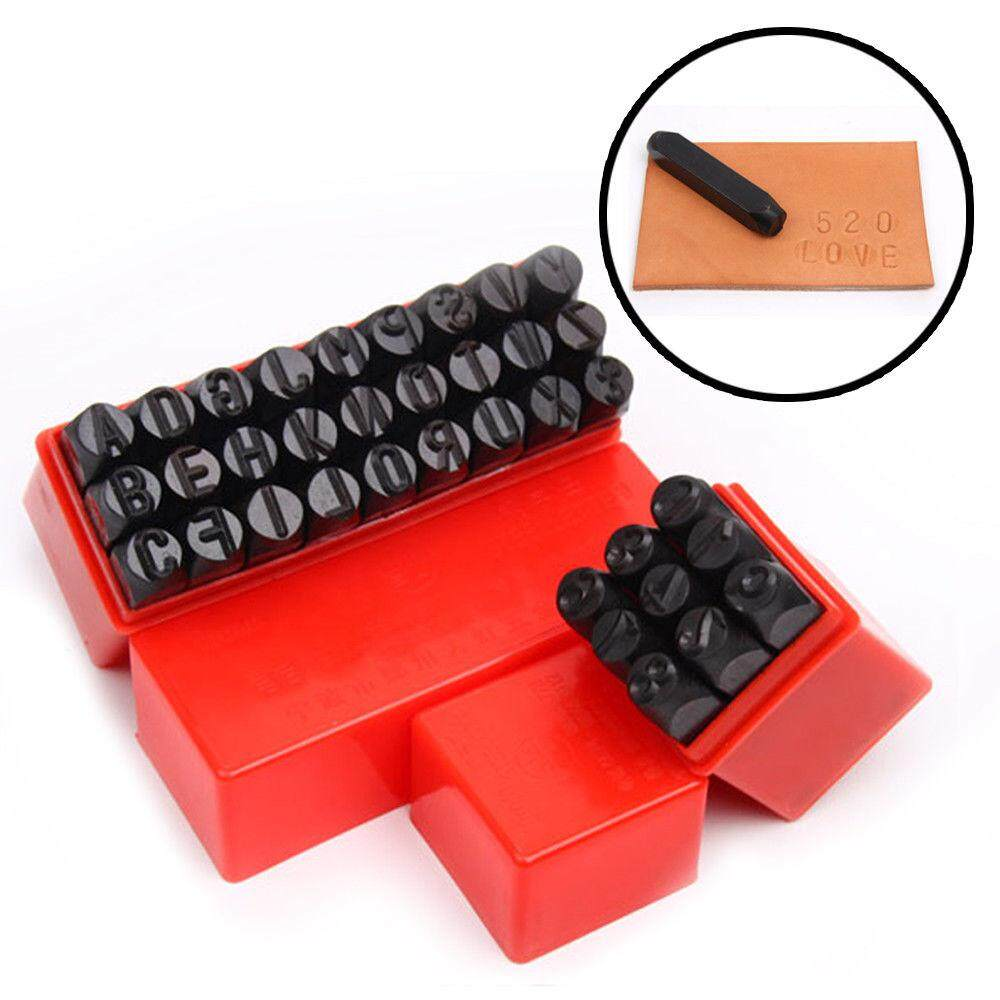 Miracle Shining 4mm Alphabet Numbers Stamps Craft Letters Punch Metal Leather Tool Set