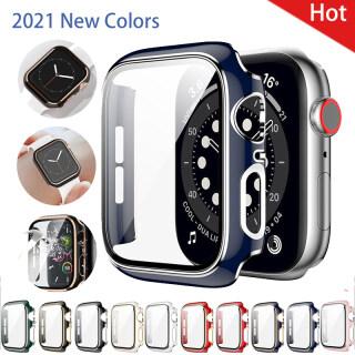 Cho Apple Watch, Sê-ri 44Mm 40Mm 6 SE 5 4 Kính Cường Lực + Ốp Lưng Ốp Chống Sốc Bảo Vệ Màn Hình Dành Cho Dòng I Watch 3 2 38 42Mm thumbnail