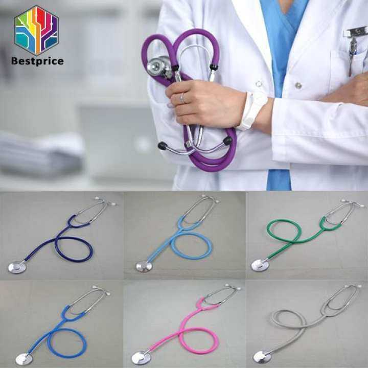 Bestprice-Dual Head Stethoscope Student Medical Tool Science Health Monitor Supplies