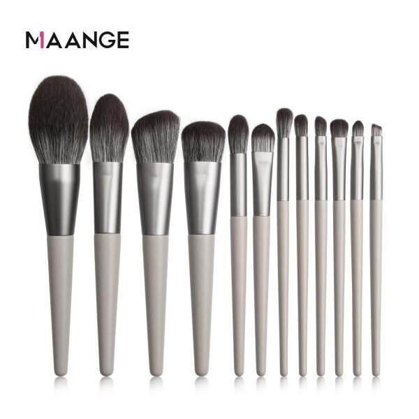 Buy MAANGE 12Pcs Eyeshadow Makeup Brushes Foundation Powder Make Up Brush Singapore