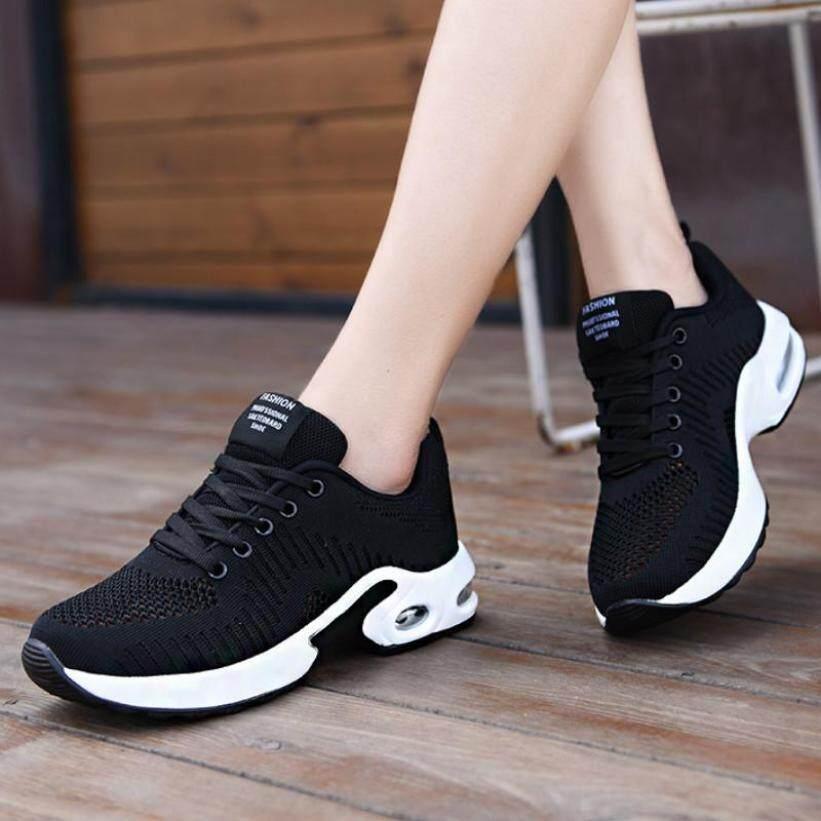 Giày thời trang Nữ khoác Đệm Không Khí Nữ Thể Thao Chạy Bộ Nền Tảng Chun Giày Buộc dây Giày Tennis giá rẻ
