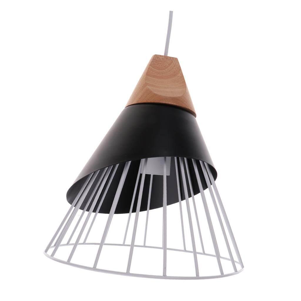 BolehDeals E27 Chandelier Shade Decor Home Iron Wood Lighting Chandelier Fixture