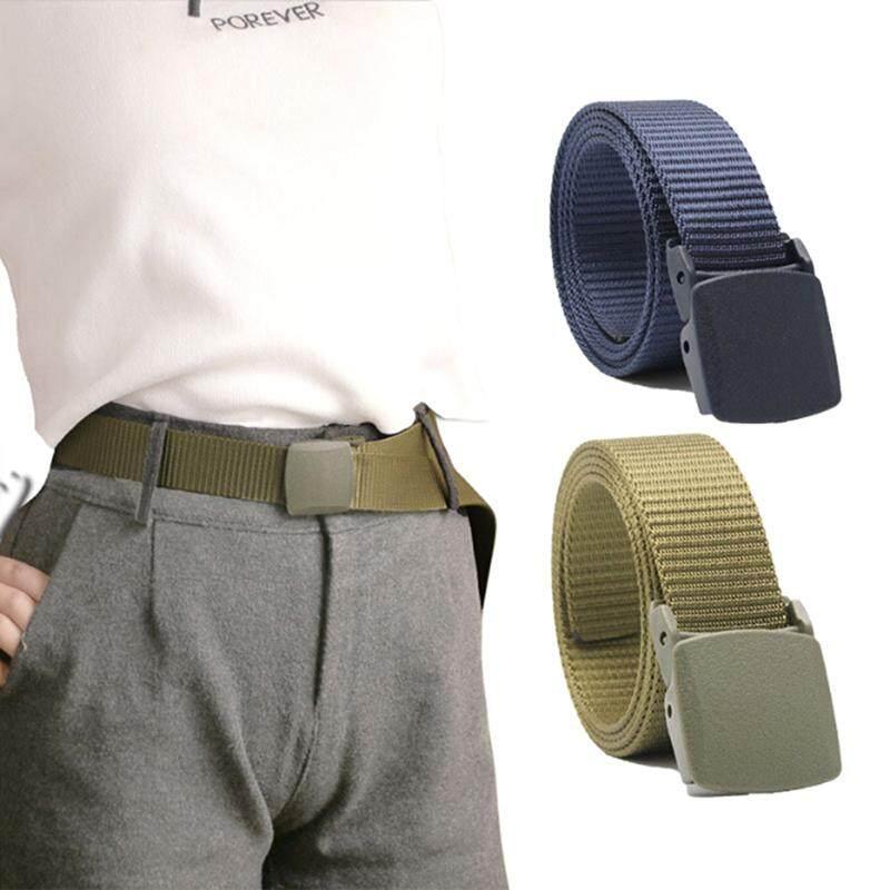 Men/'s Military Outdoor Sport Military Tactical Nylon Waistband Canvas Web Belt